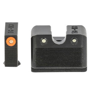 TRUGLO Tritium Pro Night Sights High Set fits GLOCK MOS 40/41 Orange Focus Ring 3 Dot Night Sight
