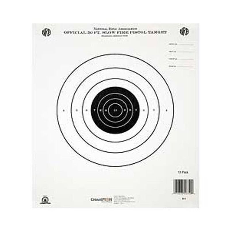 Champion GB2 NRA Target 50 Foot Pistol Slow Fire 12 Pack