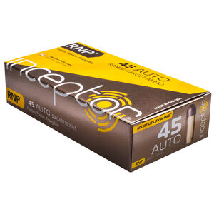 Inceptor Sport Utility Ammo .45 ACP Ammunition 50 Rounds 135 Grain RNP Lead Free Injection Molded Copper-Polymer Projectile Frangible 1210fps