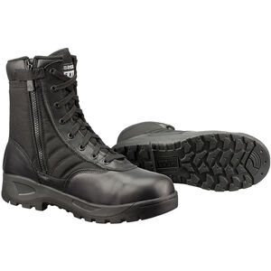 "Original S.W.A.T. Classic 9"" SZ Safety Plus Men's Boot Size 10 Wide Composite Safety Toe ASTM Tested Non-Marking Sole Leather/Nylon Black 116001W-10"