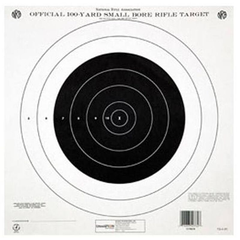 Champion NRA TQ-4P 100 Yard Small Bore Rifle Target 12 Pack Paper 40762
