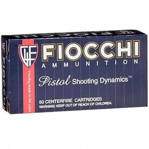 Fiocchi Pistol Shooting Dynamics 9mm Makarov Ammunition 50 Rounds 95 Grain FMJ Projectile 1020 fps