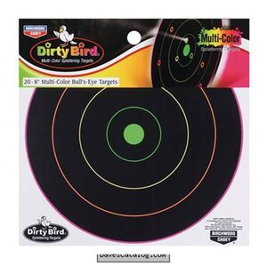 "Birchwood Casey Dirty Bird Multi Color Splattering Targets 8"" 20 Pack"