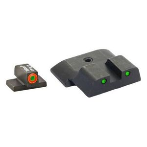 AmeriGlo S&W M&P 3-Dot Night Sight Complete Set, Spartan Tactical Green/Green Tritium Pro Operator Rear, (Not for Shield), SW-446