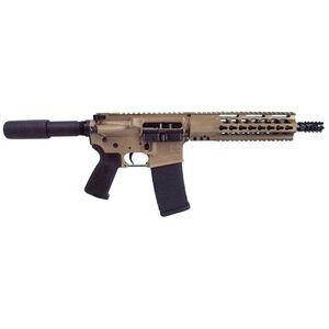 "Diamondback M4 AR-15 Semi Auto Pistol 5.56 NATO 10.5"" Barrel 30 Rounds No Sights Flat Dark Earth"