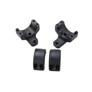 DNZ Products Game Reaper 2 Scope Ring/Base Combo fits Remington 700 and Similar 30mm Extra High Aluminum Black 2 Mounts
