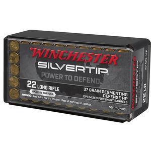 Winchester Silvertip .22 LR Ammuntion 50 Rounds Segmenting HP 37 Grain W22LRST