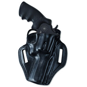 """Galco Combat Master Belt Holster Ruger SP101 2.25"""" Right Hand Leather Black CM118B"""
