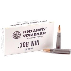 Century Arms Red Army Standard .308 Win Ammunition 150 Grain FMJ Steel Cased Bi-Metal Jacket 2800 fps