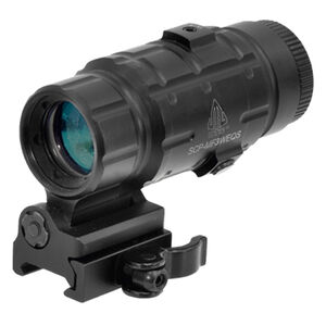 Leapers UTG 3X Magnifier With Flip-to-side QD Mount Windage/Elevation Adjustable Fog/Weather Proof Matte Black SCP-MF3WEQS