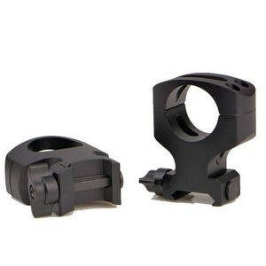 Warne Scope Mounts MSR Quick Detach Rings AR-15 30mm Tube Ultra High 2 Piece Fixed Mount Aluminum Matte Black A417LM