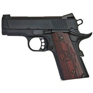 "Colt Defender Compact 1911 .45 ACP Semi Auto Pistol 3"" Barrel 7 Round Magazine Novak Sights Steel Slide/Alloy Frame Blued Finish"