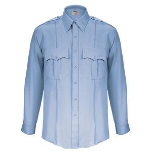 "Elbeco Textrop2 Men's Long Sleeve Shirt Neck 15.5 Sleeve 33"" 100% Polyester Tropical Weave Blue"