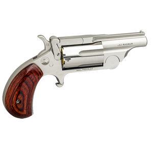 "North American Arms Ranger Break Top II .22 WRM Single Action Revolver 1-5/8"" Barrel 5 Rounds Rosewood Birdshead Grip Stainless Bead Blast Finish"
