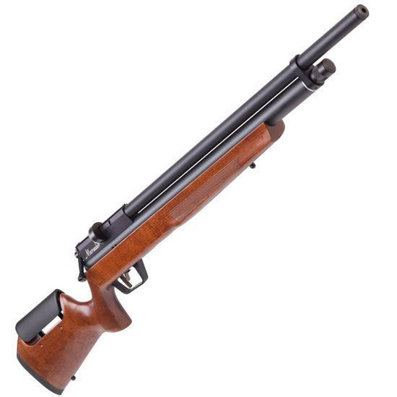 Crosman Benjamin Marauder PCP Air Rifle  22 Caliber Rifled Shrouded Barrel  1000 fps 10 Rounds Wood Stock Black BP2264W