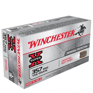 Winchester Super X .357 Magnum Ammunition 50 Rounds, JSP, 158 Grain