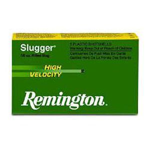 "Remington 20 Gauge Ammunition 5 Rounds 2.75"" Rifled Slug 218 Grains"