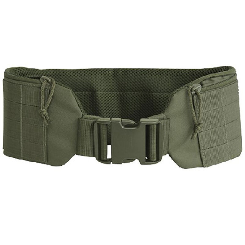 """Voodoo Tactical Padded MOLLE Pistol Belt with Quick Release Buckle Large/XL 38""""-46"""" OD Green 20-931104329"""