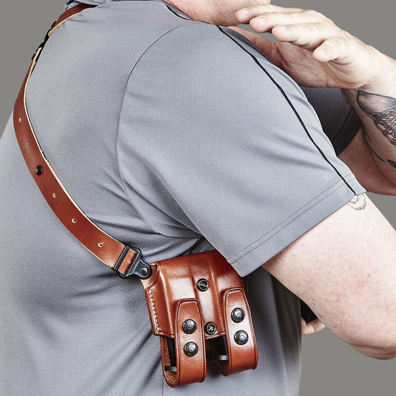 Galco Miami Classic Glock 20, 21, 29, 30, 37 Shoulder Holster System Right Hand Leather Black MC228B