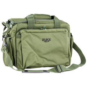 "RUKX GEAR Tactical Range Bag 16"" Green 600D Polyester"