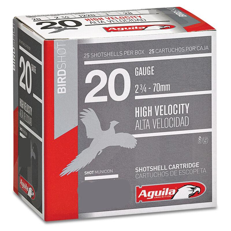 "Aguila High Velocity Field 20 Gauge Ammunition 25 Rounds 2-3/4"" Length 1 Ounce #4 Shot 1220fps"