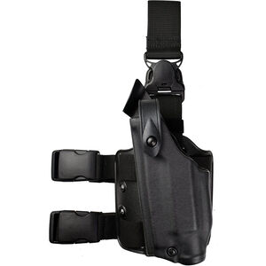Safariland 6005 SLS Tactical Holster with Quick Release Leg Harness Fits S&W 4906TSW with ITI M5 or Similar Light Left Hand STX Tactical Finish Black
