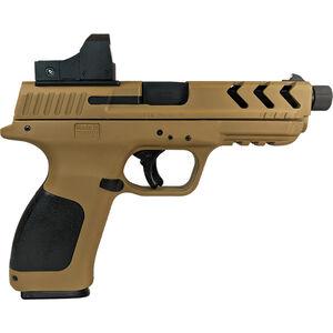 "EAA Girsan MC28SA TV-BX 9mm Luger Semi Auto Pistol 4.7"" Threaded Barrel 17 Rounds with Red Dot DE Polymer Frame DE/Black Finish"