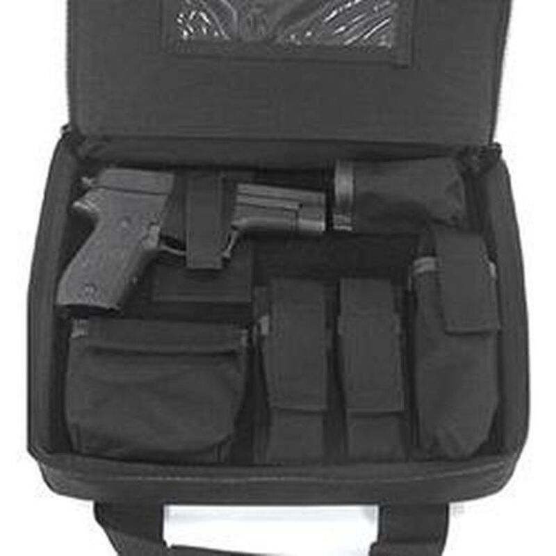"BLACKHAWK! Discreet SOCOM Pistol Case with Holster, 10"" x 13"" x 2.5"", Black"
