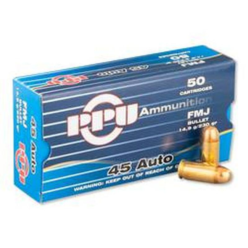 Prvi Partizan PPU  45 ACP Ammunition 230 Grain Full Metal Jacket 836fps