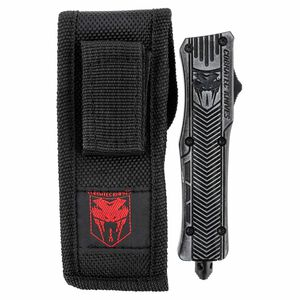 """Cobra Tec Knives CTK-1 2.75"""" Dagger, Partially Serrated D2 Steel, Stonewashed Aluminum Handle"""