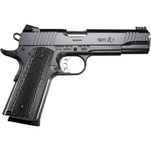 "Remington 1911 R1 Enhanced Semi Automatic Pistol .45 ACP 5"" Barrel 8 Rounds Wood Laminate Grips Satin Black Oxide Finish 96328"