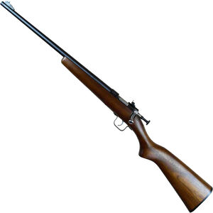 "Keystone Chipmunk .22 LR Youth Left Handed Single Shot Bolt Action Rimfire Rifle 16"" Barrel 1 Round Adjustable Rear Peep Sight Walnut Stock Blued Finish"