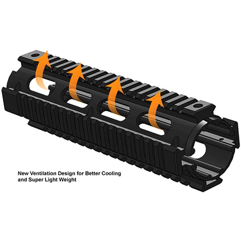 Leapers UTG PRO AR-15 Mid-Length Drop In Quad Rail Handguard Aluminum Black MTU007