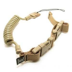 Gemtech Tactical Retention Lanyard Coil Cord Adjustable Nylon/Polypropylene Khaki Tan TRL-KT