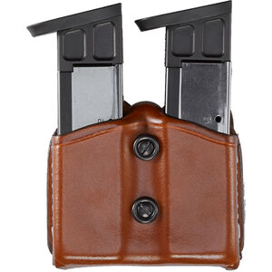 Aker Leather Double Ammo Pouch Glock .45 Tan