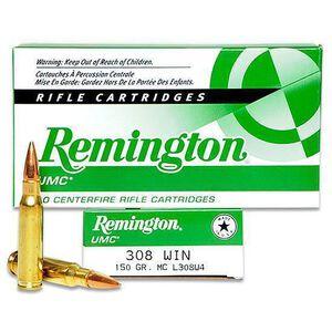 Remington UMC .308 Win Ammunition 150 Grain FMJ 2820fps