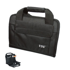 Leapers UTG Deluxe Double Pistol Soft Case 1680D Nylon Black PVC-PC02B