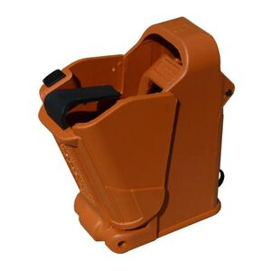 Maglula UpLULA Universal Pistol Magazine Loader 9mm/.357SIG/.40S&W/10mm/.45ACP Polymer Orange Brown