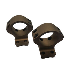 Talley Manufacturing One Piece 30mm High Scope Rings/Mount Combo Browning X-Bolt Hells Canyon 7000 Series Alloy Cerakote Burnt Bronze Finish
