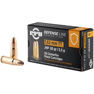 Prvi Partizan PPU Defense 7.62 Tokarev Ammunition 50 Rounds 85 Grain JHP 1675fps