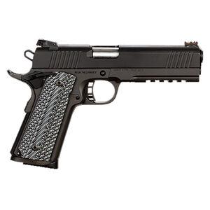 "Rock Island Armory Tac Series Ultra Full Size 1911 Semi Auto Pistol 10mm Auto 5"" Barrel 8 Rounds Fiber Front/Adjustable Rear Sights G10 Grips Parkerized Matte Black"