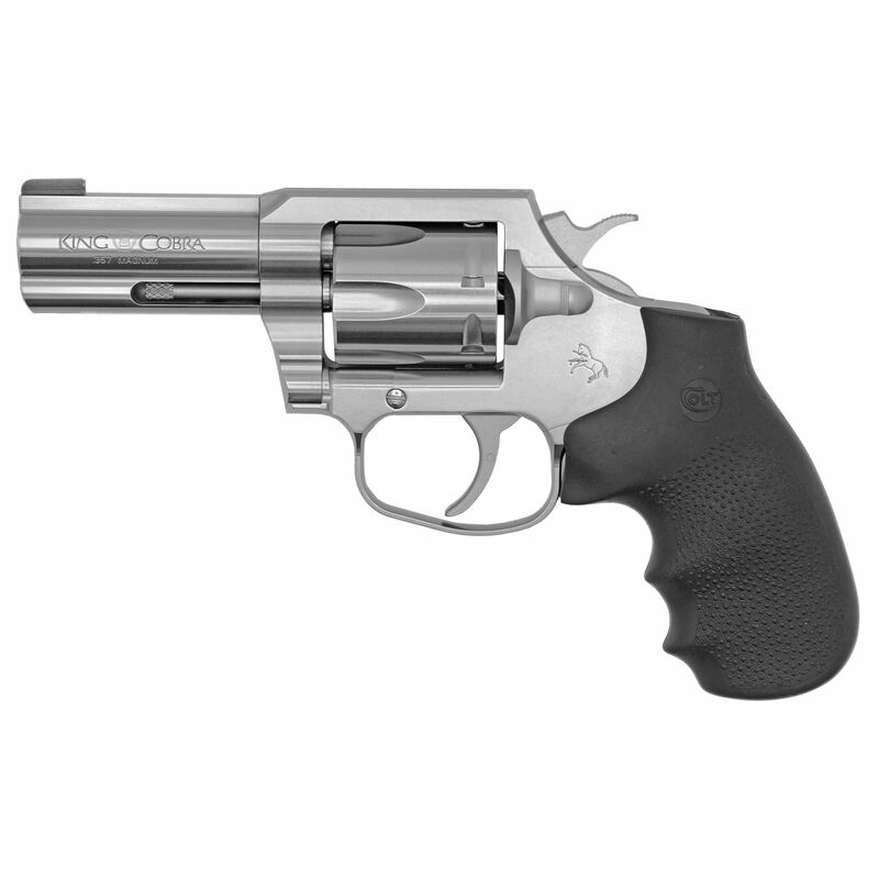 """Colt King Cobra .357 Mag Revolver 3"""" Barrel Hogue Grips Brass Bead Front Sight Stainles Steel"""