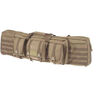 "DRAGO Gear 42"" Single Gun Case Padded Backpack Straps 600D Polyester Tan 12-303TN"