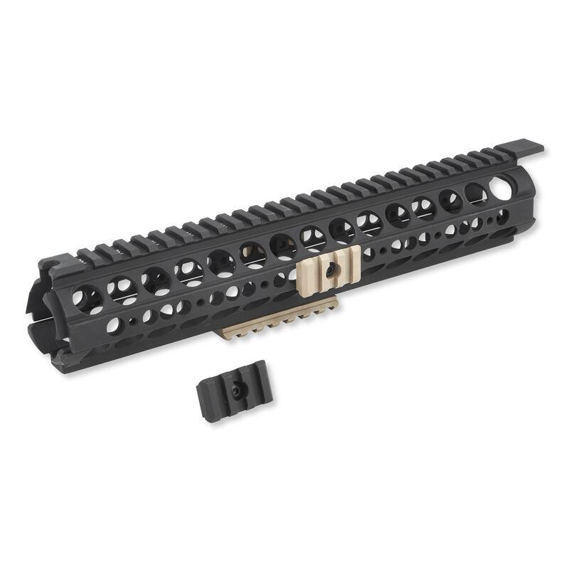 Midwest Industries AR-15 SS-Series Rifle Length Handguard Aluminum Black With FDE Rails MI-19SS-FDE