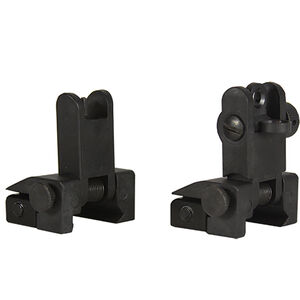 JE Machine Front and Rear Flip Up Gun Sights Polymer Black