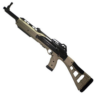 "Hi-Point Carbine Semi Auto Rifle 9mm Luger 16.5"" Barrel 10 Rounds Polymer Stock Flat Dark Earth"