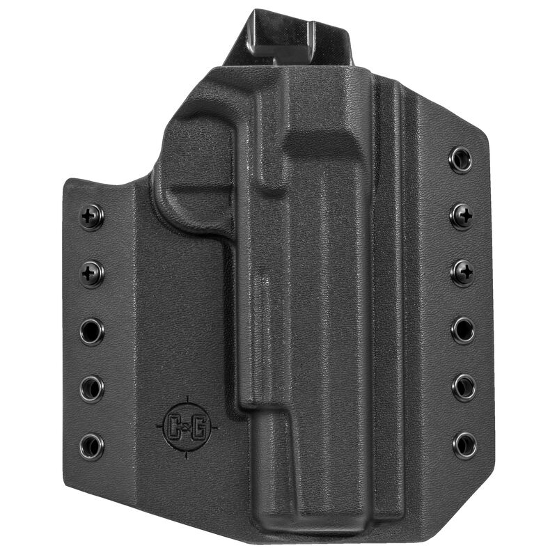 """C&G Holsters Covert OWB Holster for SIG Sauer 1911 5"""" With Rail Right Hand Draw Kydex Black"""