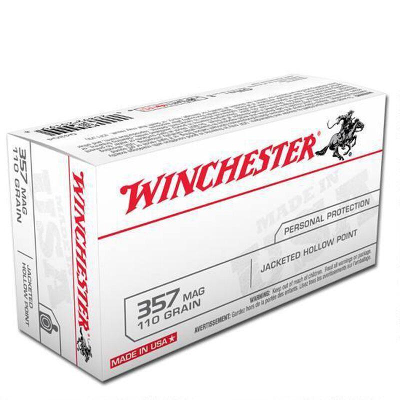 Winchester USA .357 Magnum Ammunition 50 Rounds, JHP, 110 Grain