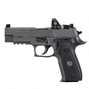 "SIG Sauer P226 Legion RX Semi Auto Pistol 9mm Luger 4.4"" Barrel 15 Rounds X-Ray Sights/ROMEO1 Reflex Sight SIG Rail Black G10 Grips Stainless Steel Slide/Alloy Frame PVD Gray Finish"