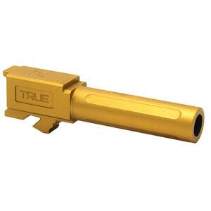 True Precision GLOCK 19 Replacement Barrel Non-Threaded Gold Titanium Nitride Finish